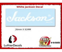 Jackson Decal Guitar White Decal #44wb