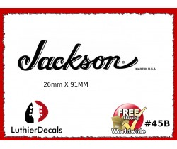 Jackson Decal Guitar White Decal #45b