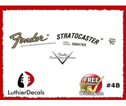 Fender Decal Stratocaster Guitar Decal #4b