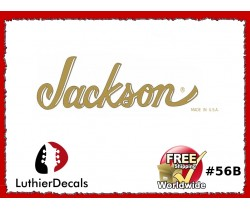 Jackson Decal Guitar White Decal #56b