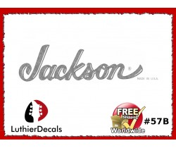 Jackson Decal Guitar White Decal #57b