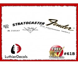 Fender Decal Stratocaster Guitar Decal #61b