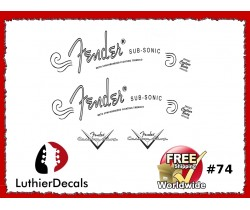 Fender Sub Sonic Guitar Decal #74