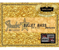 Fender Bullet Bass Deluxe Guitar Decal Waterslide #74g