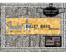 Fender Bullet Bass Deluxe Guitar Decal Waterslide #74s