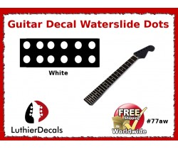 Guitar Decal Fret Neck Waterslide Dots #77aw