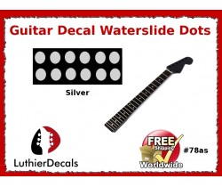 Guitar Decal Fret Neck Waterslide Dots #78as