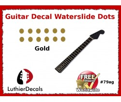 Guitar Decal Fret Neck Waterslide Dots #79ag