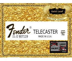 Fender Telecaster Made in USA Guitar Decal 86g