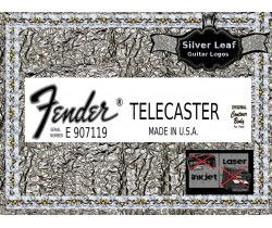 Fender Telecaster Made in USA Guitar Decal 86s