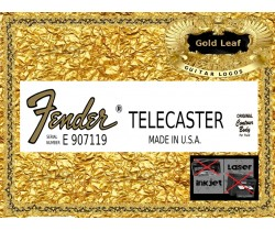 Fender Telecaster Made in USA Guitar Decal 87g