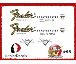 Fender Decal Stratocaster Guitar #95