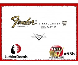 Fender Decal Stratocaster Guitar Decal #95b