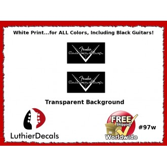 Fender Guitar Custom shop White Decal #97w