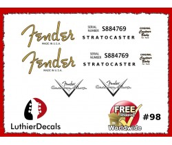 Fender Decal Stratocaster Guitar Decal #98
