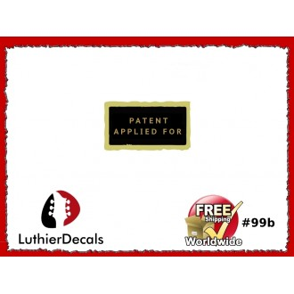 Humbucker PAF Patent Number Applied For Decal Guitar  Decal #99b