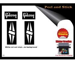Gibson Guitar Adhesive Sticker v1