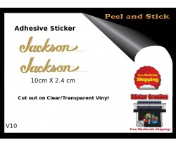 Jackson Guitar Adhesive Sticker v10