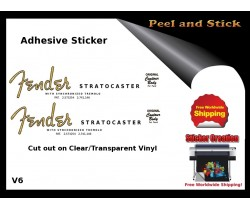 Fender Stratocaster Guitar  Sticker v6
