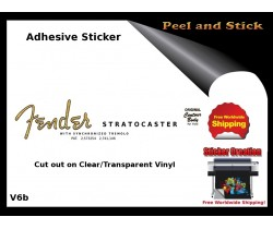 Fender Stratocaster Guitar  Sticker v6b