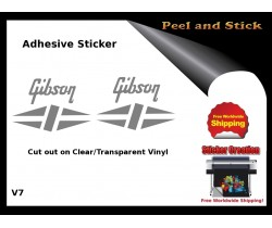 Gibson Guitar Adhesive Sticker v7