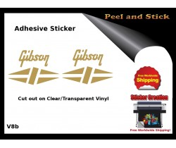 Gibson Guitar Adhesive Sticker v8