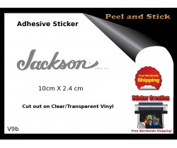Jackson Guitar Adhesive Sticker v9