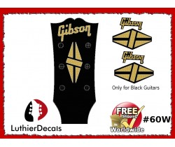 Gibson Guitar Decal for Black Guitars #60w