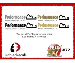 Performance Guitar Decal #72