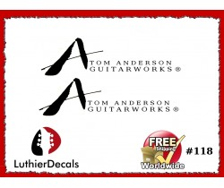 Tom Anderson Decal Guitar Headstock Decal #118
