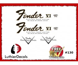 Fender Electric Bass VI Guitar Decal #130