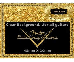 Fender Guitar Custom shop Decal Gold #56g