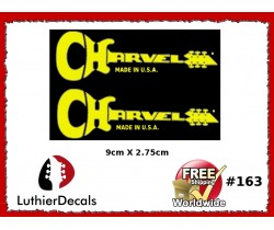 Charvel Guitar Decal Yellow #163