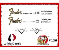 Fender Stratocaster Crafter in Japan Guitar Decal #136