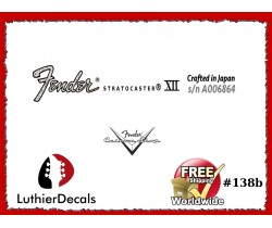 Fender Stratocaster Crafter in Japan Guitar Decal #138b
