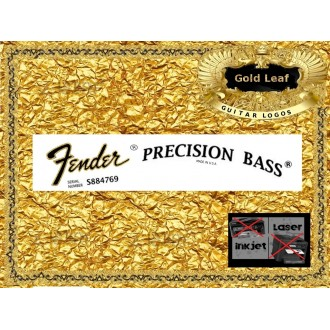 Fender Precision Bass Guitar Decal #35g