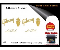 Gibson Guitar Adhesive Sticker v12