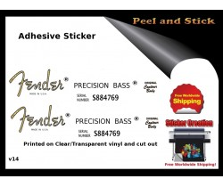 Fender Precision Guitar  Sticker v14