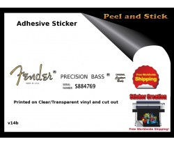 Fender Precision Guitar  Sticker v14b