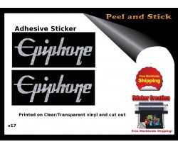 Epiphone Guitar Decal v17